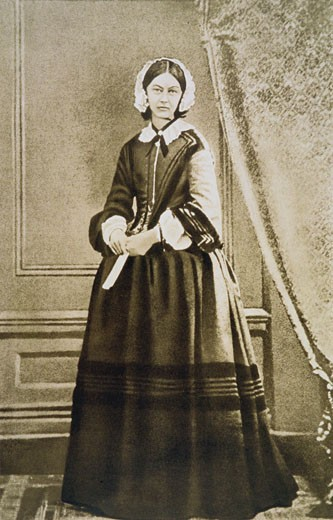 Florence Nightingale, (1820-1910), English nurse and hospital reformer. From a photograph : Stock Photo