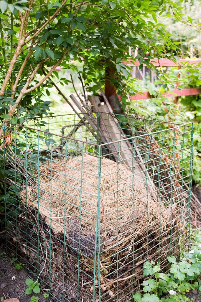 Stock Photo: 1747R-11816 Compost heap