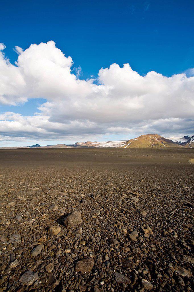 Stock Photo: 1747R-17886 Barren landscape, Sprengisandur region, Iceland