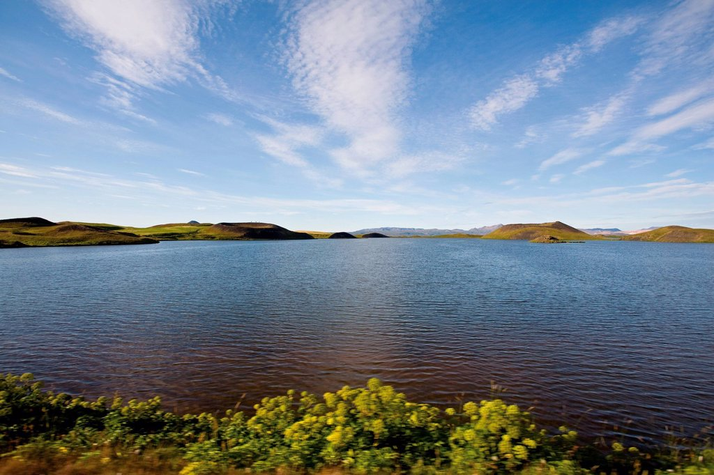 Stock Photo: 1747R-18124 Lake Myvatn, Iceland