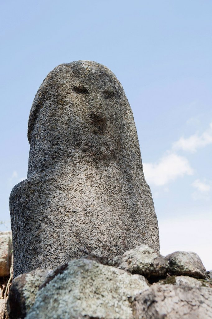 Stock Photo: 1747R-18171 Rock formation resembling human face