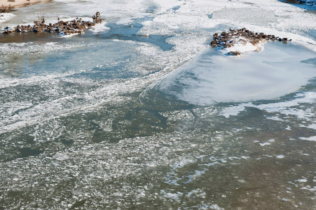 Stock Photo: 1747R-18185 Frozen lake