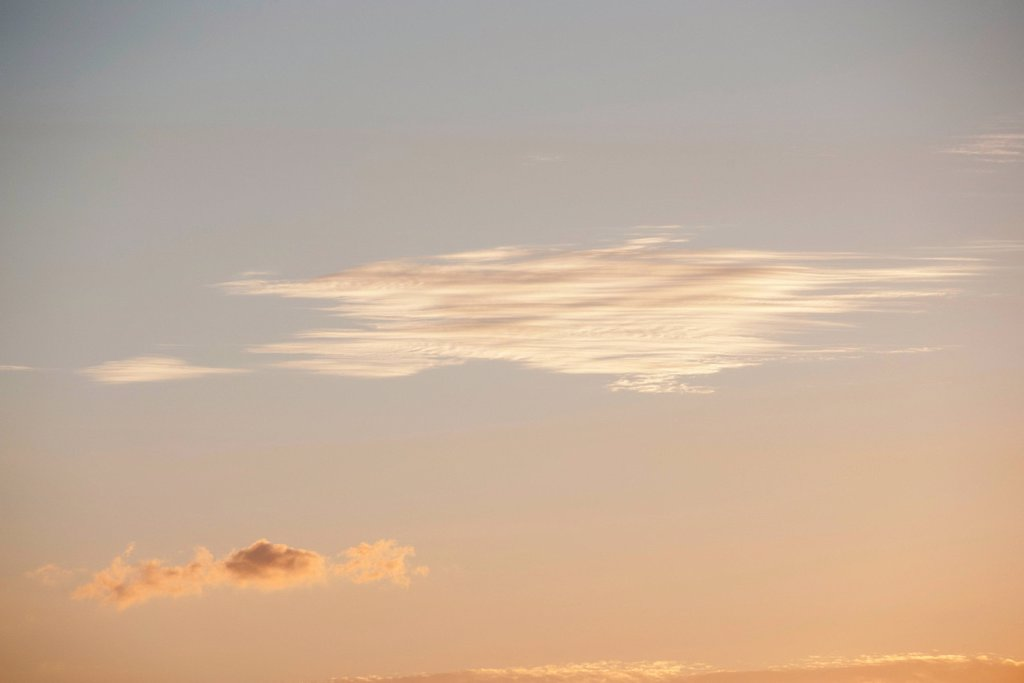Stock Photo: 1747R-18392 Cloudscape at sunset
