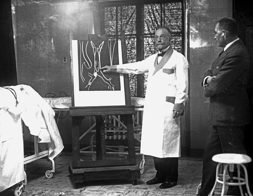 Stock Photo: 1749-142 Dr. Chevalier Johnson, Bronchoscope Dr., Philadelphia, Pennsylvania, USA