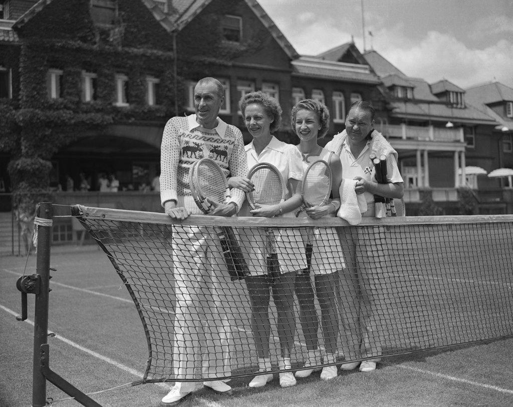 Tennis Foursome, Bryn Mawr, Pennsylvania, USA : Stock Photo