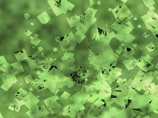 Stock Photo: 1758R-5329 Abstract pattern on a green background