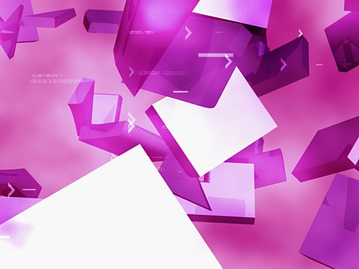 3-d shapes on a pink background : Stock Photo