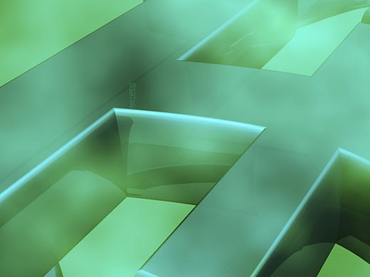 Stock Photo: 1758R-5340 3-d pattern on a green background