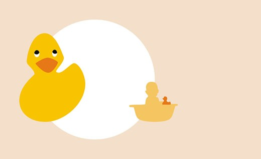 Close-up of a rubber duck  : Stock Photo