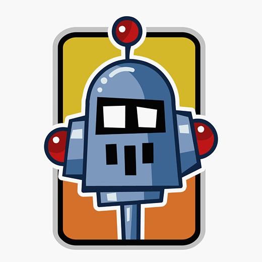 Stock Photo: 1758R-6046 Robot's head