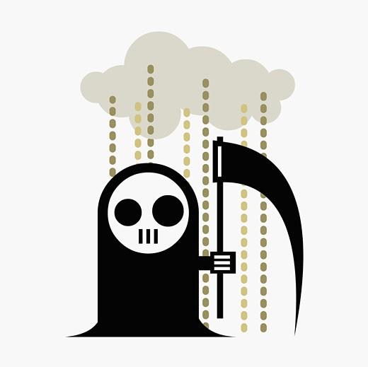 The Grim Reaper : Stock Photo
