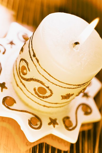 Close-up of a burning candle : Stock Photo
