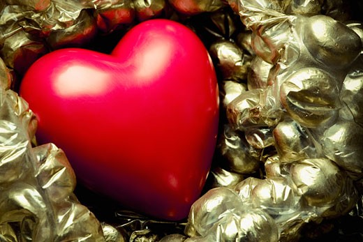 Stock Photo: 1758R-8432 Close-up of a heart shape balloon
