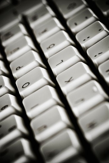 Stock Photo: 1758R-8505 Close-up of a computer keyboard