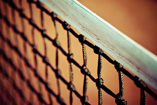 Stock Photo: 1758R-8573 Close-up of a tennis net