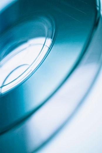 Close-up of two compact discs : Stock Photo