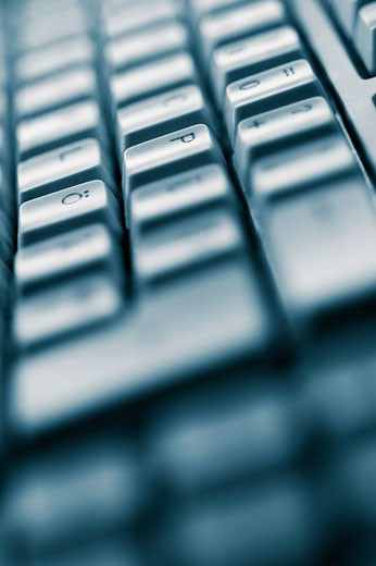 Stock Photo: 1758R-8677 Close-up of a computer keyboard