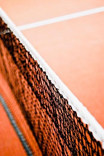 Close-up of a tennis net : Stock Photo