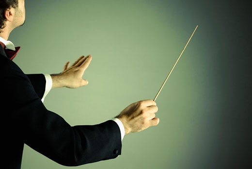 Stock Photo: 1758R-8808 Conductor with baton