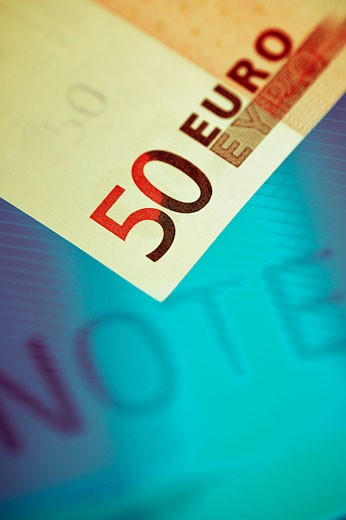 Close-up of fifty euro banknote : Stock Photo