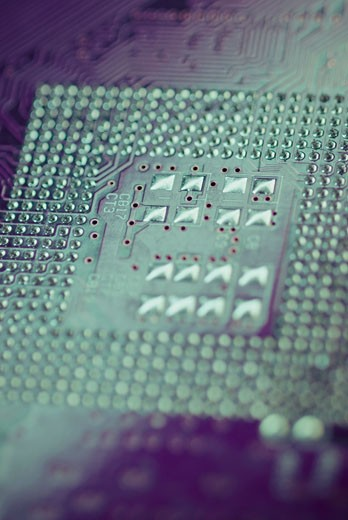Close-up of a circuit board : Stock Photo