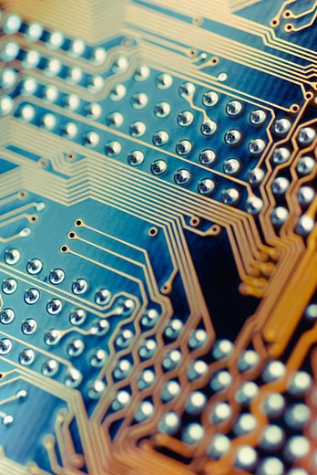 Stock Photo: 1758R-8986 Close-up of a circuit board