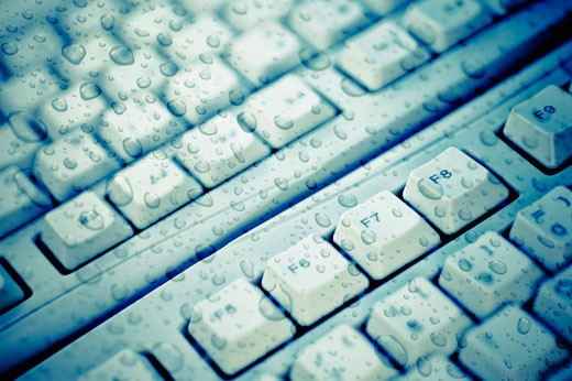 Stock Photo: 1758R-8998 Close-up of computer keyboards