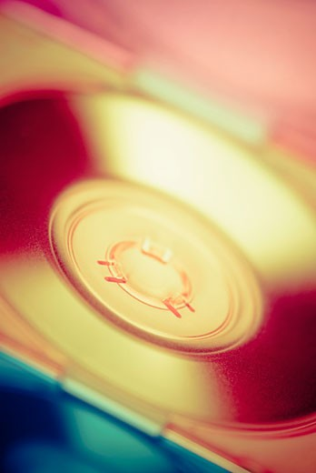 Close-up of a compact disc : Stock Photo