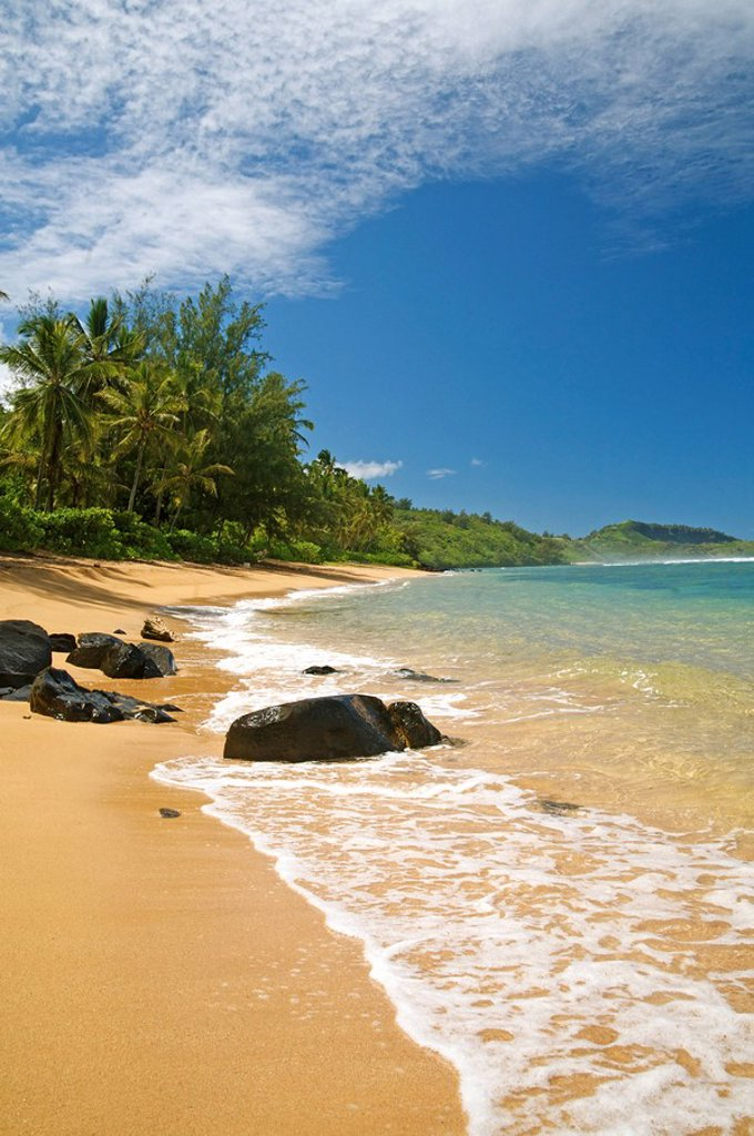 Stock Photo: 1760-13112 Hawaii, Kauai, Picture of Pila´a beach.