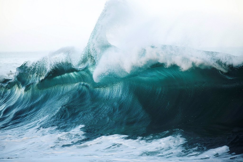 Hawaii, Large wave in Hawaii. : Stock Photo