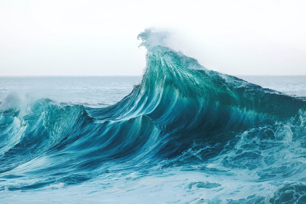 Stock Photo: 1760-13444 Hawaii, Wave breaking in Hawaii.