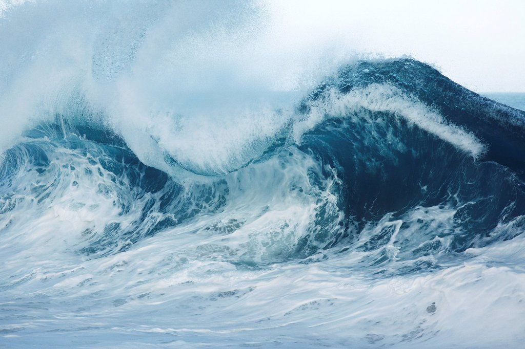 Stock Photo: 1760-13446 Hawaii, Wave breaking in Hawaii.