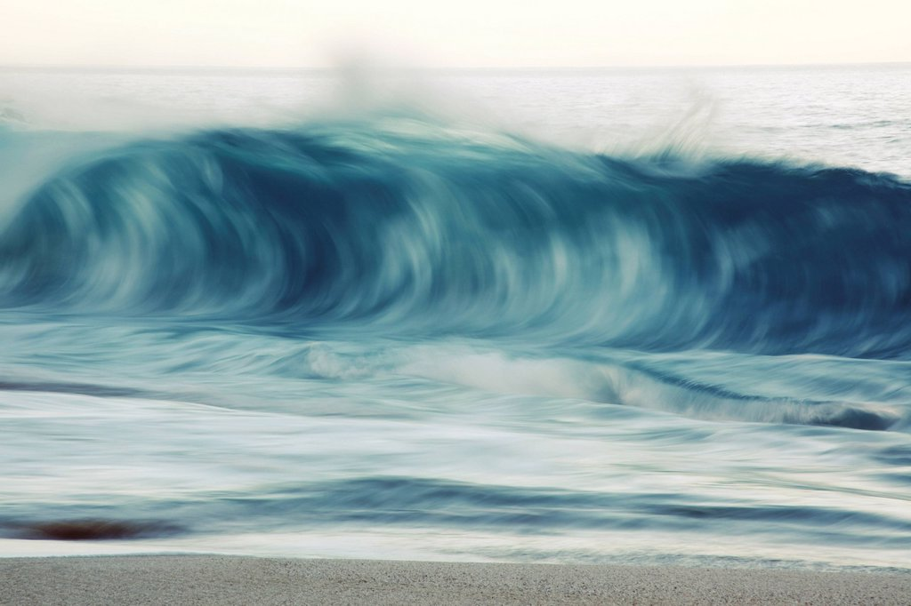 Hawaii, Oahu, Early morning waves on the North Shore. : Stock Photo