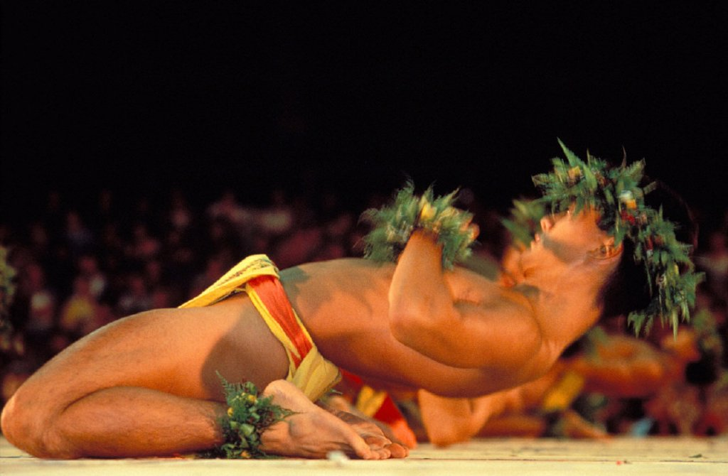 Hawaii, Big Island, Merrie Monarch Hula Festival Kane Kahiko : Stock Photo