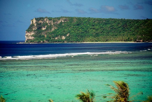 Guam, Two Lover´s Point and turquoise ocean : Stock Photo