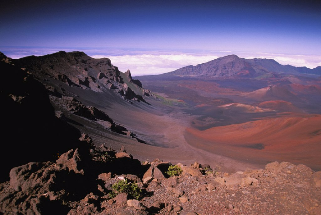 Stock Photo: 1760-3839 Hawaii, Maui, Haleakala Crater, Haleakala National Park