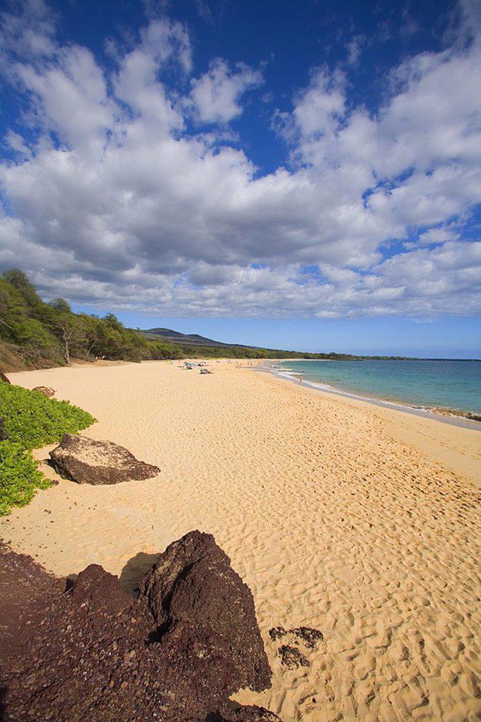 Hawaii, Maui, Makena, Oneloa Beach or ´Big Beach´ : Stock Photo