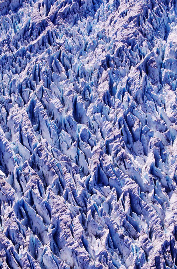 Alaska, Tracy Arm_Fords Terror Wilderness Area, Detail of glacier. : Stock Photo