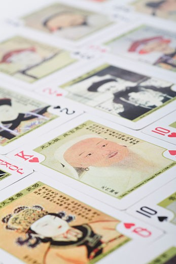 Close-up of playing cards : Stock Photo