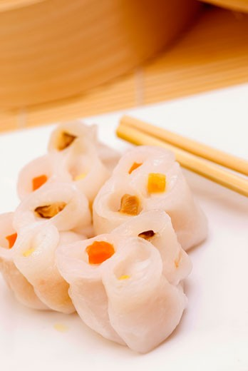 Close-up of sushi rolls served in a tray : Stock Photo