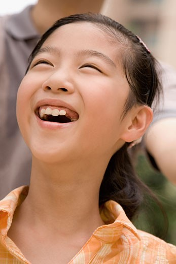 Stock Photo: 1768R-11757 Close-up of a girl laughing