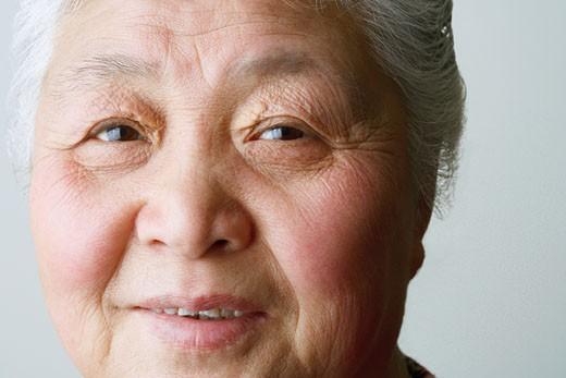 Stock Photo: 1768R-4508 Portrait of a senior woman smiling