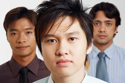 Stock Photo: 1768R-5839 Portrait of three businessmen