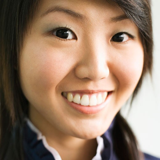 Stock Photo: 1768R-8049 Portrait of a young woman smiling