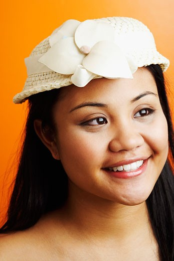 Stock Photo: 1768R-9258 Close-up of a young woman smiling