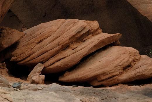 Eroded rocks, Escalante Canyon, Colorado, USA : Stock Photo