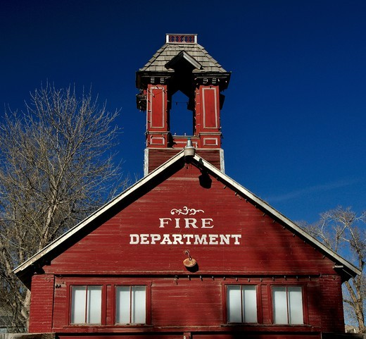 Stock Photo: 1772-724 Old Firehouse, Ridgway, Ouray County, Colorado, USA