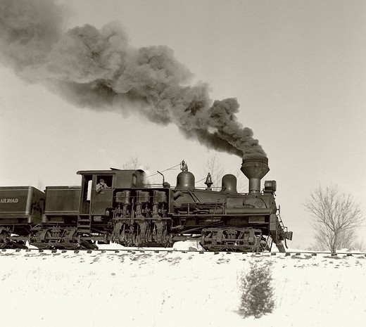 Stock Photo: 1772-801 USA, Virginia, Steam Locomotive