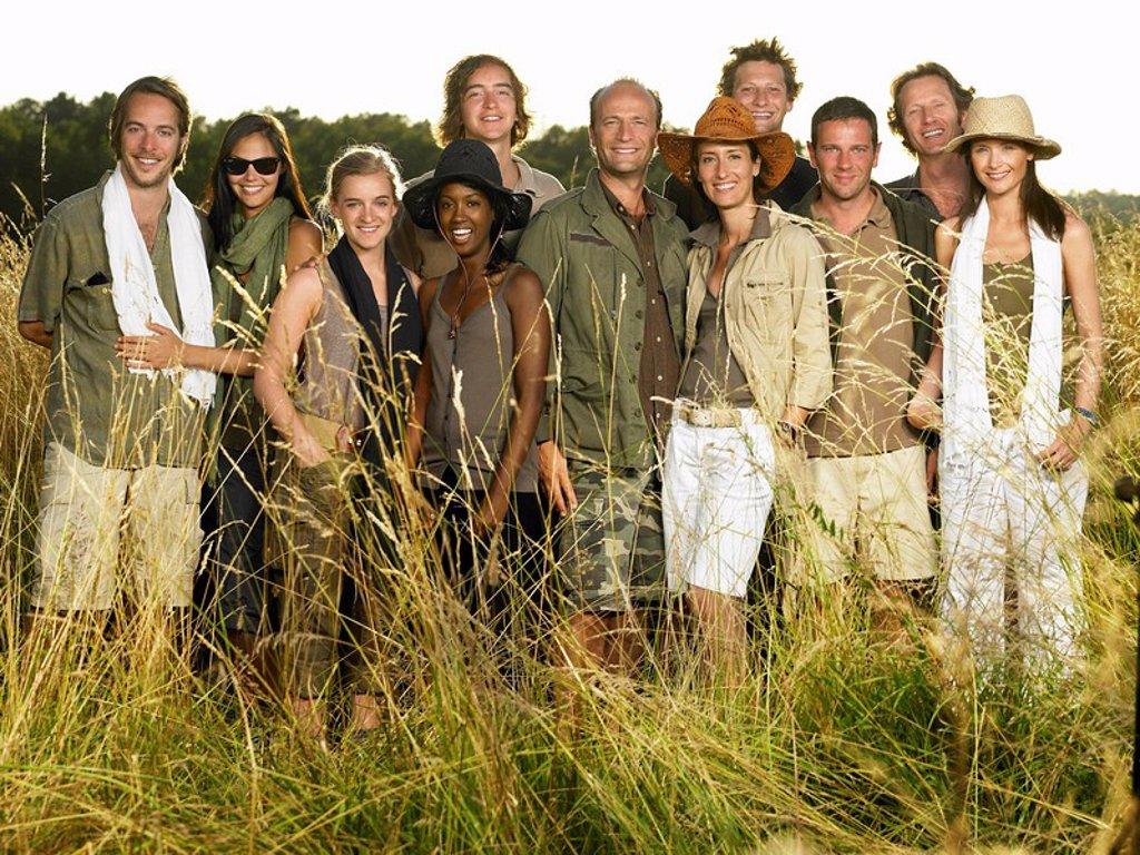 Stock Photo: 1773-20123 People dressed for a safari, smiling