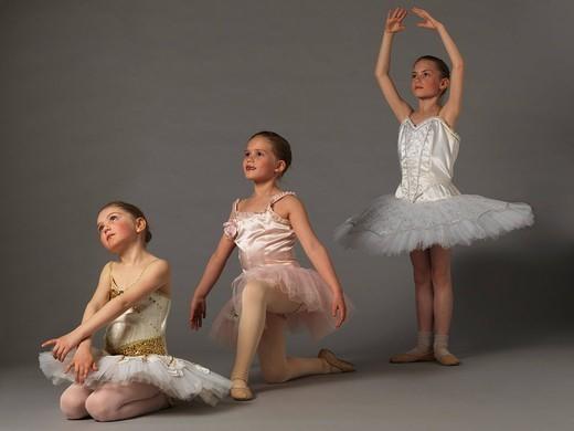 Three girls posing. : Stock Photo